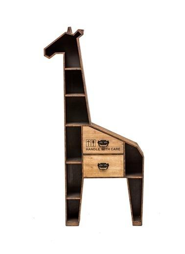 Ahşap Zürafa Figürlü Dolap -Warm Design